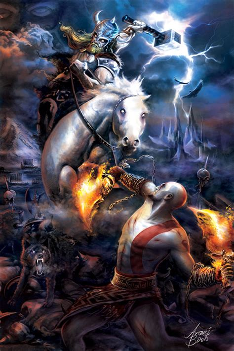 God Of War 22 Cool Kratos Artwork Collections Naldz