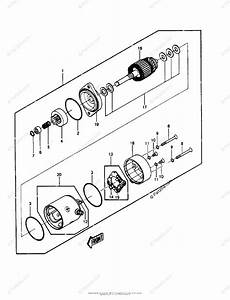 Kawasaki Jet Ski 1986 Oem Parts Diagram For Starter Motor