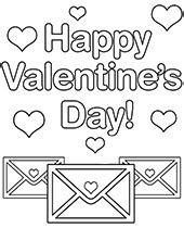 Valentine Day Greeting Cards to Color