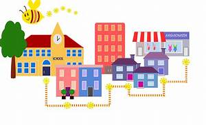 Traveling, Clipart, Neighbourhood, Place, Traveling