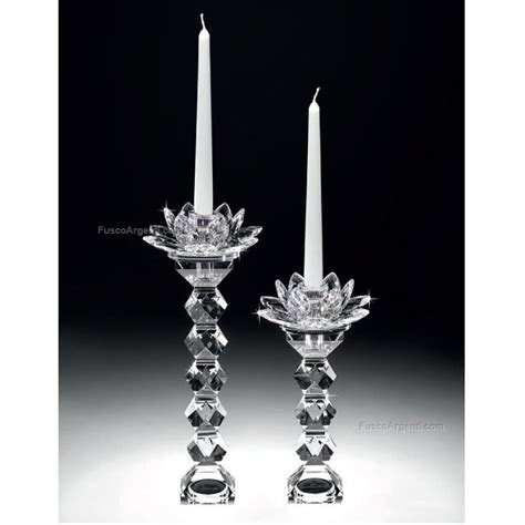 candelieri in cristallo candeliere cristallo ranoldi cm 17x17x29 fiore rac4015