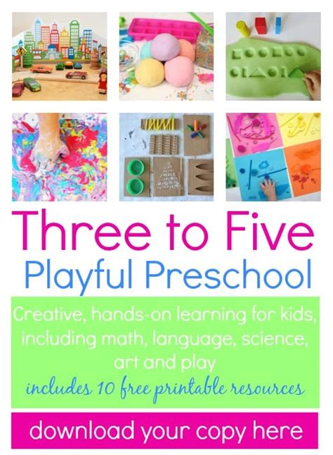 three to five playful preschool nurturestore 668 | download your copy here
