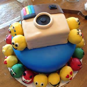 Emoji Happy Birthday Cake