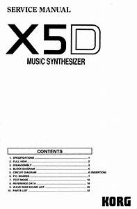 Korg X5d Service Manual With Block And Schematics Diagram