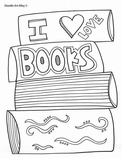 Coloring Pages Cool Reading Library Books Printable