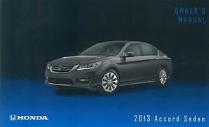 2013 Honda Accord Sedan Owner Manual User Guide Reference