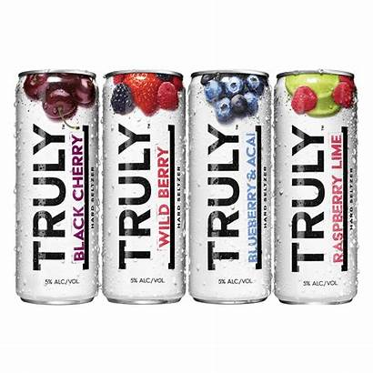 Seltzer Truly Berry Hard Cans Tropical Water