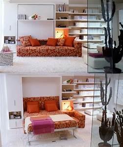 Lit escamotable 10 idees ingenieuses pour optimiser l39espace for Idee deco cuisine avec lit escamotable