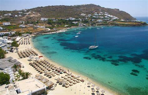 Map Of Mykonos Beaches Best Mykonos Beaches Map 2018