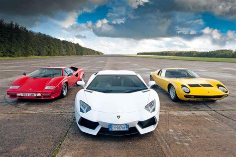 Vs Lamborghini by Lamborghini Aventador Vs Miura And Countach Auto Express