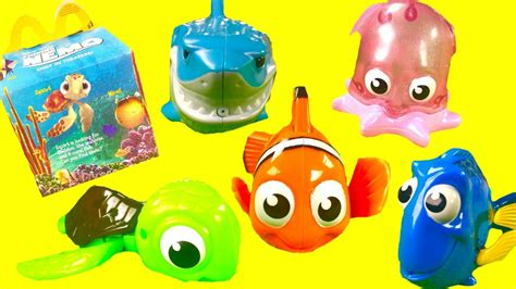Finding Nemo Mcdonald's Happy Meal Toys! Dory Marlin Pearl