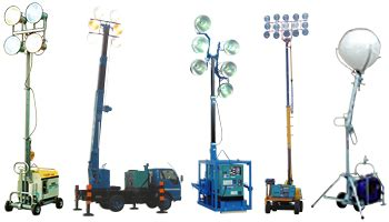 lighting system in building civil road construction projects 西尾レントオール株式会社