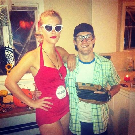 squints and wendy peffercorn from the sandlot last minute couples costumes popsugar love