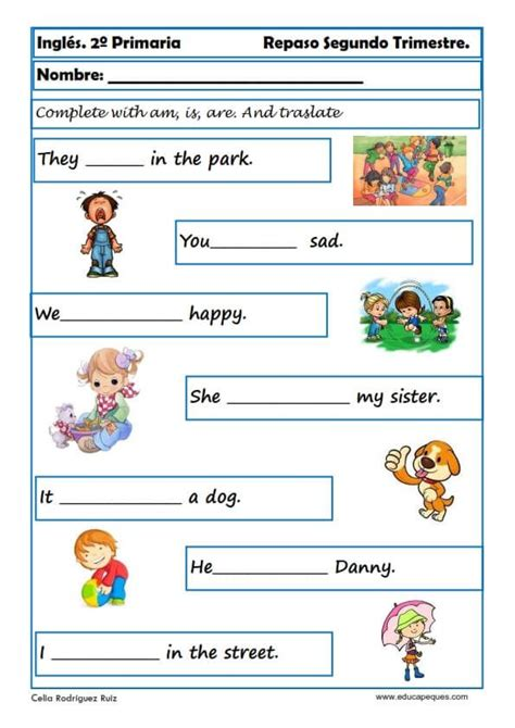 fichas ingles primaria 18 English worksheets Ensino de