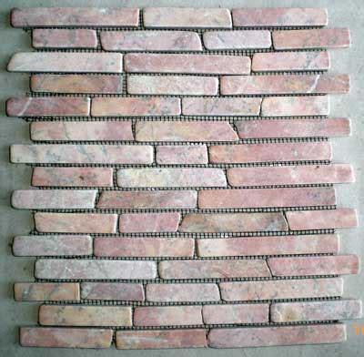 Mosaic Pebble Tiles, Sliced Pebble Tiles, Standing Pebble