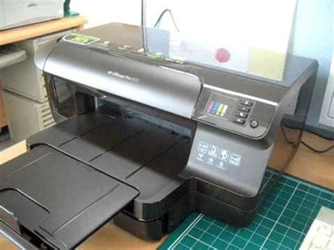 hp officejet pro 8100 color printing speed test