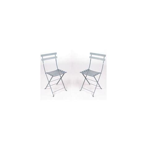 chaise pliante métal lot de 2 contemporain chaise de chaise pliante bistro en métal gris orage fermob lot