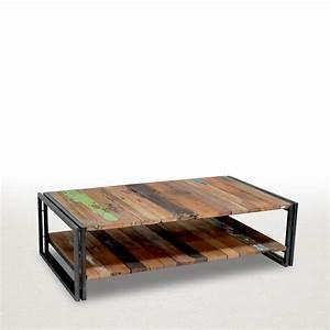 Table Basse Loft : meubles style loft industriel table basse factory meubles num rot s ~ Teatrodelosmanantiales.com Idées de Décoration
