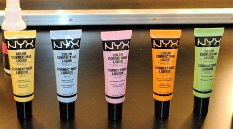 nyx color correcting primer nyx color correcting liquid primer review swatches
