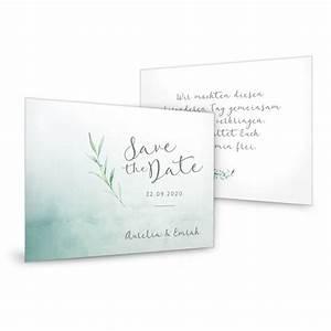 Save The Date Karte : save the date karten im greenery stil mit watercolor ~ A.2002-acura-tl-radio.info Haus und Dekorationen