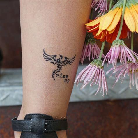 rise  phoenix manifestation tattoo tatu small