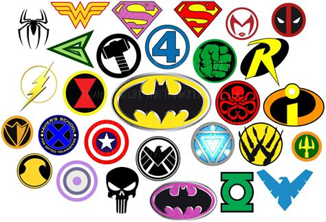 Superhero Logo Iron On Heat Transfer Heroes Marvel
