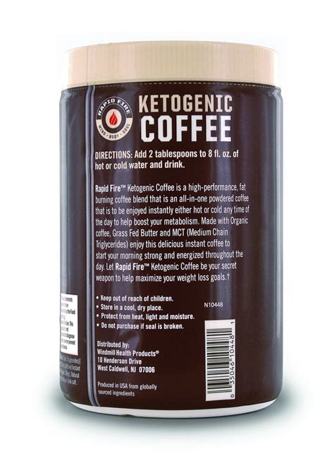 · details on rapid fire ketogenic coffee and weight loss. Rapid Fire Original Ketogenic Coffee   FitKing