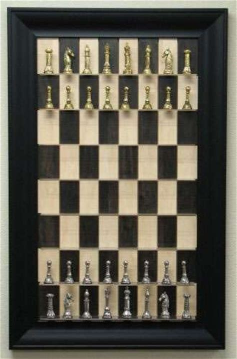 wall mounted board games straight  chess