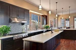 22 beautiful kitchen colors with dark cabinets home for Kitchen colors with white cabinets with nyc skyline wall art