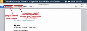 Co editing documents online in sharepoint 2010 it for Microsoft edit documents online