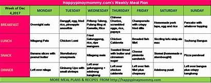 Diet Plan Filipino Meal Week Weekly Ulam
