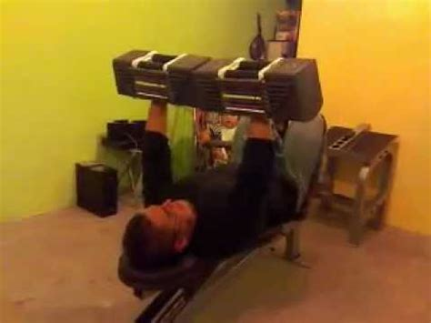 90 Pound Dumbbell Bench Press by Bench Press With Powerblock Dumbells 90 Lb Each