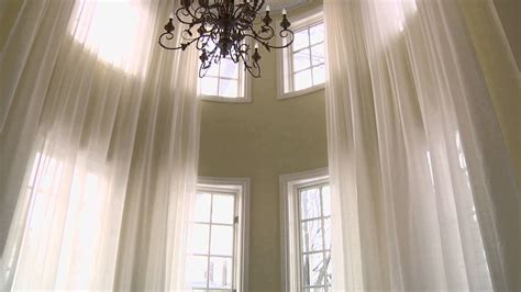 Motorized Curtains On A Curved Track