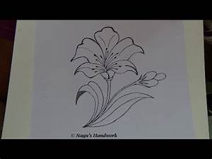 Flower Tutorial-How to draw flower design-Simple Drawing ...