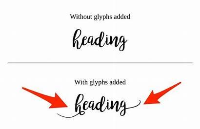 Glyphs Fonts Text Templett Font Glyph Help