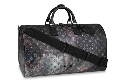louis vuitton duffle keepall galaxy bandouliere  grey