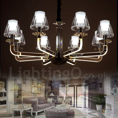 Dimmable Modern / Contemporary 8 Light Crystal Chandelier