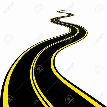 Winding Road Clipart Vector River Illustration Drawing