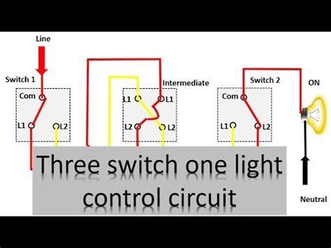 3 switch one light diagram three way lighting circuit earth bondhon