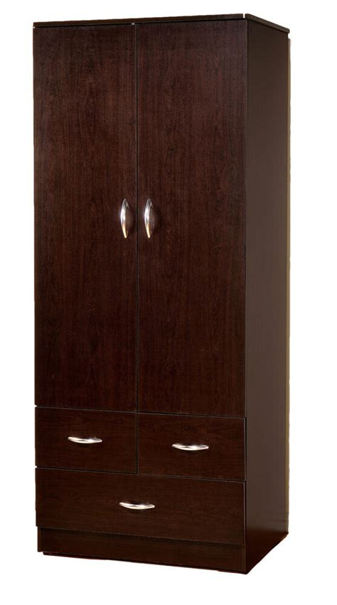 One Door Wardrobe With Drawers by Wardrobe Bedroom Armoire With 2 Doors And 3 Drawers 7801