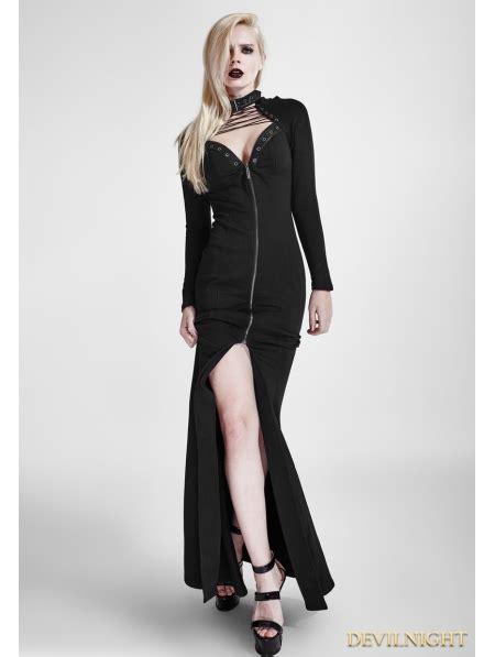 black gothic heavy punk long dress devilnightcouk