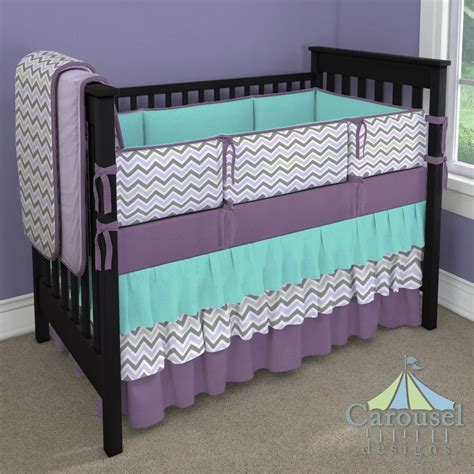 purple chevron crib bedding custom nursery bedding the purple in and crib bedding
