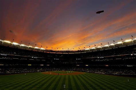 sunset  yankee stadium   bombers bounce