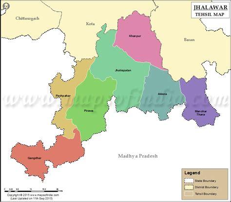 jhalawar tehsil map jhalawar tehsils