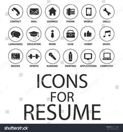 resume icons free icons set your resume cv stock vector 357219386