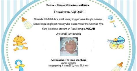 contoh ucapan tasyakuran aqiqah masdaniwebid