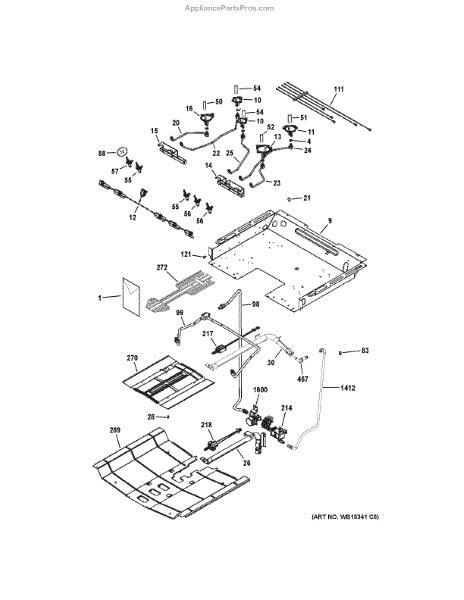 parts  ge jgseefes gas burner parts appliancepartsproscom