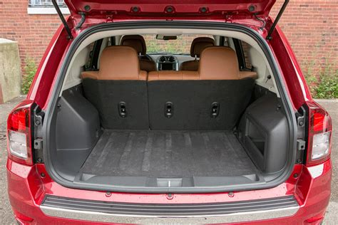 jeep compass 2017 trunk space 2014 jeep compass our review cars com