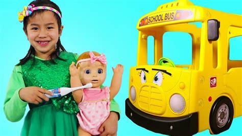 Jannie Pretend Play Morning School Routine W Baby Doll