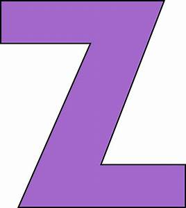 z | Purple Letter Z Clip Art Image - large purple capital ...